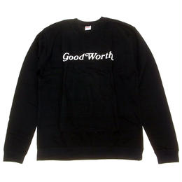 GOOD WORTH   OG LOGO CREWNECK SWEAT BLACK(