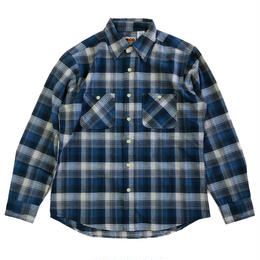 CAMCO  L/S CHAMBRAY OMBRE CHECK SHIRTS  NAVY カムコ オンブレチェック シャンブレーシャツ