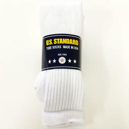US STANDARD / 3PACKS TUBE SOCKS WHITE MADE IN USA チューブソックス 靴下