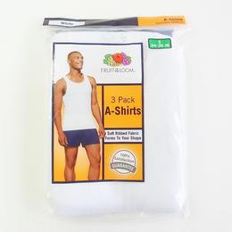 Fruit of the Loom 3Pack A-Shirts White フルーツオブザルーム タンクトップ  3枚パック