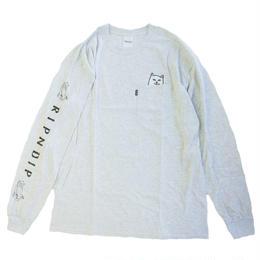 RIPNDIP / LORD NERMAL POCKET TEE L/S TEE GREY リップンディップ 長袖Tシャツ