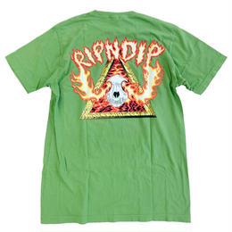 RIPNDIP / INFERNO TEE OLIVE  リップンディップ Tシャツ