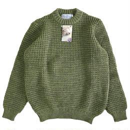 KERRY WOOLLEN MILLS   ケリーウーレンミルズ ワッフルニット セーター Waffle CreNeck Sweater DarkApple