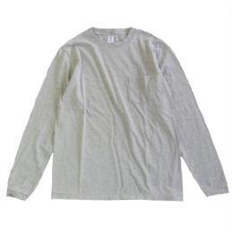 Velva Sheen TUBULER L/S TEE W/PKT TEE H.GREY ベルバシーン 長袖Tシャツ