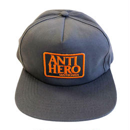 ANTI HERO  RESERVE PATCH SNAPBACK CHARCOAL キャップ