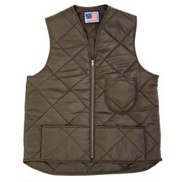 SNAP'N'WEAR / QUILTED NYL VEST WITH KINDNEYFLAP BROWN スナップンウエア キルティングベスト