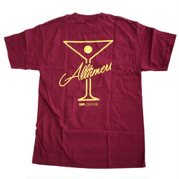 ALLTIMERS LEAGUE PLAYER TEE Burgundy オールタイマーズ Tシャツ