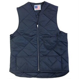 SNAP'N'WEAR / QUILTED NYL VEST WITH KINDNEYFLAP NAVY  スナップンウエア キルティングベスト MADE IN USA