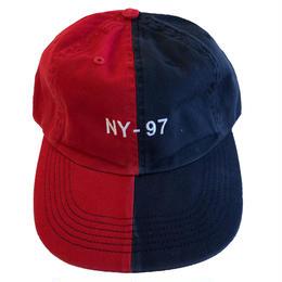 ONLY NY NAUTICAL SPLIT POLO HAT  navy/red オンリーニューヨーク キャップ