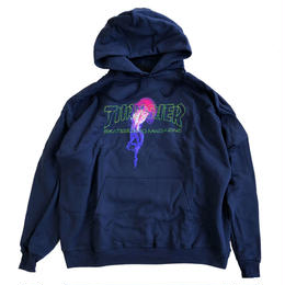 THRASHER  ATLANTIC DRIFT HOOD  NAVY  スラッシャー パーカー