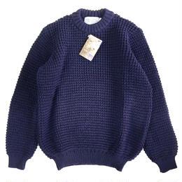 KERRY WOOLLEN MILLS  ケリーウーレンミルズ ワッフルニット セーター  Waffle CreNeck Sweater NavyBlue