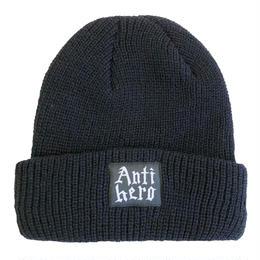 ANTI HERO LIDING CUFF BEANIE  BLACK ニットキャップ