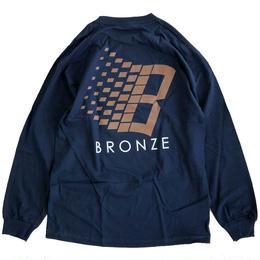 Bronze 56k  CLASSIC LOGO L/S TEE NAVY 長袖Tシャツ BRONZE56K
