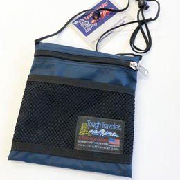 Tough Traveler / LARGE POUCH WITH MESHPOCKET  NAVY タフトラベラー ポーチ サコッシュ MADE IN USA
