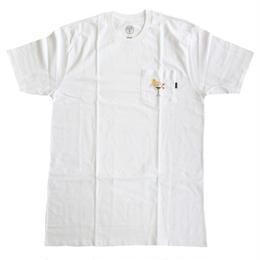GOOD WORTH x Chloe Kovska / MARTINI GIRL POCKET TEE WHITE グッドワース Tシャツ
