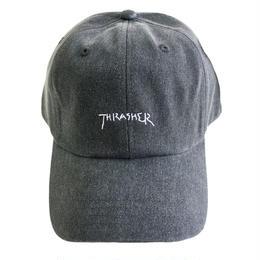 THRASHER スラッシャー / PIGMENT CAP  後染め キャップ  BLACK