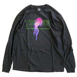 THRASHER  ATLANTIC DRIFT L/S TEE  BLACK 長袖Tシャツ スラッシャー