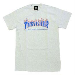 THRASHER PATRIOT FLAME S/S TEE ASHGREY スラッシャー Tシャツ