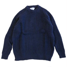 KERRY WOOLLEN MILLS  Fisherman Rib Crew Neck LITE NAVY ケリーウーレンミルズ リブ ニット セーター