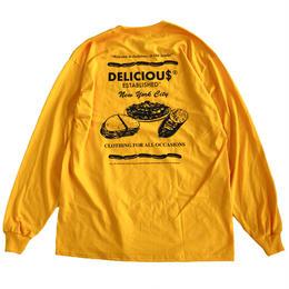 Jamie Story(J MONEY)for Delicious LS TEE GOLD 長袖Tシャツ