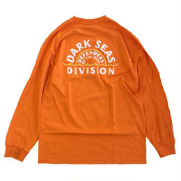 DARK SEAS  SUNSET L/S TEE ORANGE ダークシーズ 長袖Tシャツ