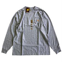 CARHARTT /  L/S WORKWEAR POCKET TEE   HEATHER GREY カーハート 長袖ポケットTシャツ