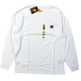 CARHARTT /  L/S WORKWEAR POCKET TEE   WHITE カーハート 長袖Tシャツ