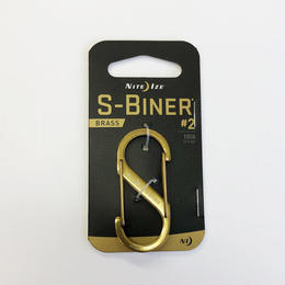 NITE-IZE S-BINER #2 BRASS SOP-CMN-SB220 ナイトアイズ カラビナ