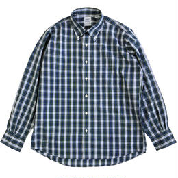 THE BAGGY  BROADCLOTH L/S BD SHIRTS  BLUExGREEN  バギー ボタンダウンシャツ