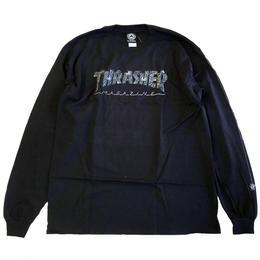 THRASHER / WEB L/S TEE BLACK スラッシャー 長袖Tシャツ