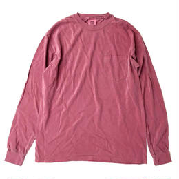 COMFORT COLORS 6.1oz L/S Pocket TEE BRICK コンフォートカラーズ 長袖Tシャツ