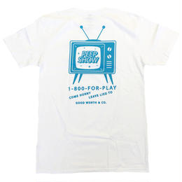 GOOD WORTH   PEEPSHOW TEE WHITE グッドワース Tシャツ