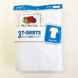Fruit of the Loom  BOYS 3Pack CREW T-Shirts White レディース  Tシャツ 3枚パック フルーツオブザルーム