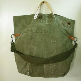 #0098 vintage military dufflebag reworked 2 way shoulder bag