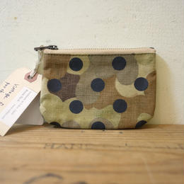 "vintage fabric pouch ""dot"""