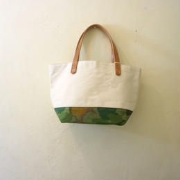 Japanese made canvas & vintage fabric mini tote mitchell camo