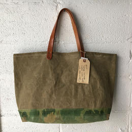 #317 1950's local made duffle and Mitchell camo tote