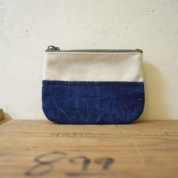 "vintage fabric pouch ""USN VTG DENIM"""