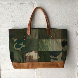 #347 patched tote large with leather