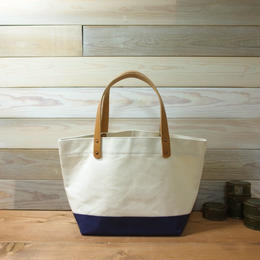 "Japanese Made Canvas Tote S size ""navy"""