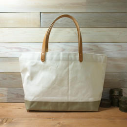 "Japanese Made Canvas Tote M Size ""beije"""