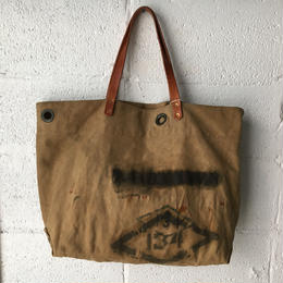 #213 vintage local made duffle tote