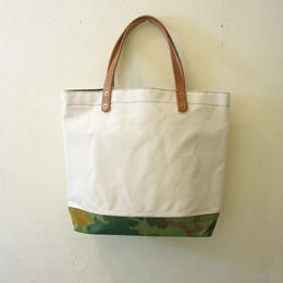 Japanese canvas & vintage fabric tote tall mitchell camo
