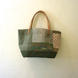 "#0163 vintage military patchwork bag ""s"""