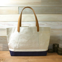 "Japanese Made Canvas Tote M Size ""navy"""