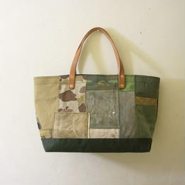 #166 vintage fabric patchwork tote M size