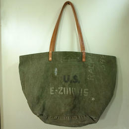 #0097 vintage military dufflebag reworked bag