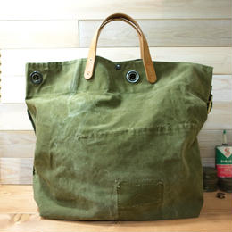 #0103 vintage military dufflebag reworked 2 way messenger bag