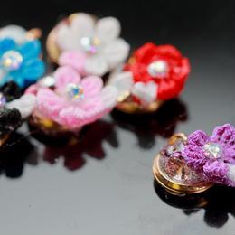 Nailアクセサリー小花 紫