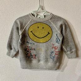 【DENIM DUNGAREE 】ビンテージウラケ SMILE NEWS スウェットsize   BM